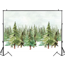 NeoBack Jungle Forest Backdrop Watercolor Natural Scenery Photography Backdrops Winter Snowflake Newborn Baby Photo Background