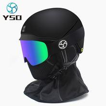 Лыжные очки yso с магнитной линзой двухслойная противотуманная