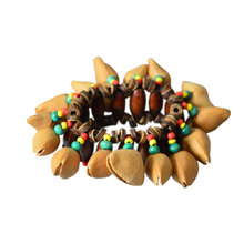 Colorful African Drum Handbell Musical Instrument Props Durable Percussion Bracelet Bell Chimes Nut Shell Natural Orchestral