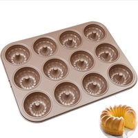 12 Even Kouglof Mould 12 Even Sava Forest Cake Mold Household Oven 24 Even Donuts Cuckoo Mould