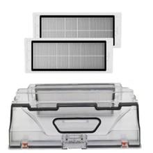 Robot Vacuum Cleaner Parts Dust Bin Box with Hepa Filter Replacements for Xiaomi Robotic Sweeper Mi