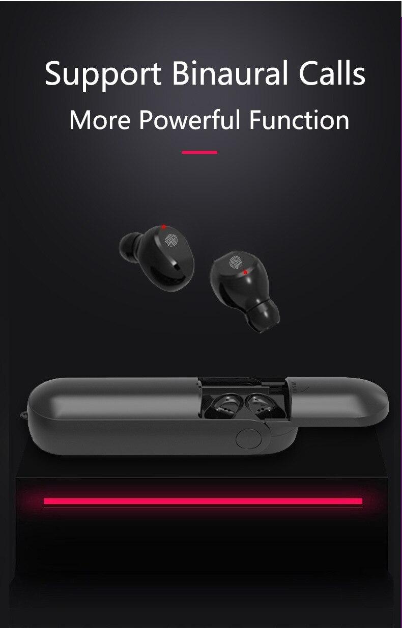 ouvido sem fio tocável f7 binaural multi-função