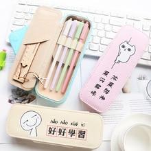 Creative Stationery Pencil Case Korea Simple Girls Small Fresh Cute Student Storage Box Large