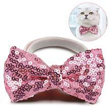 Tie Pet-Clothing-Accessories-Supplies Pet-Bowtie Dog Elastic Cute Fashion Sequin