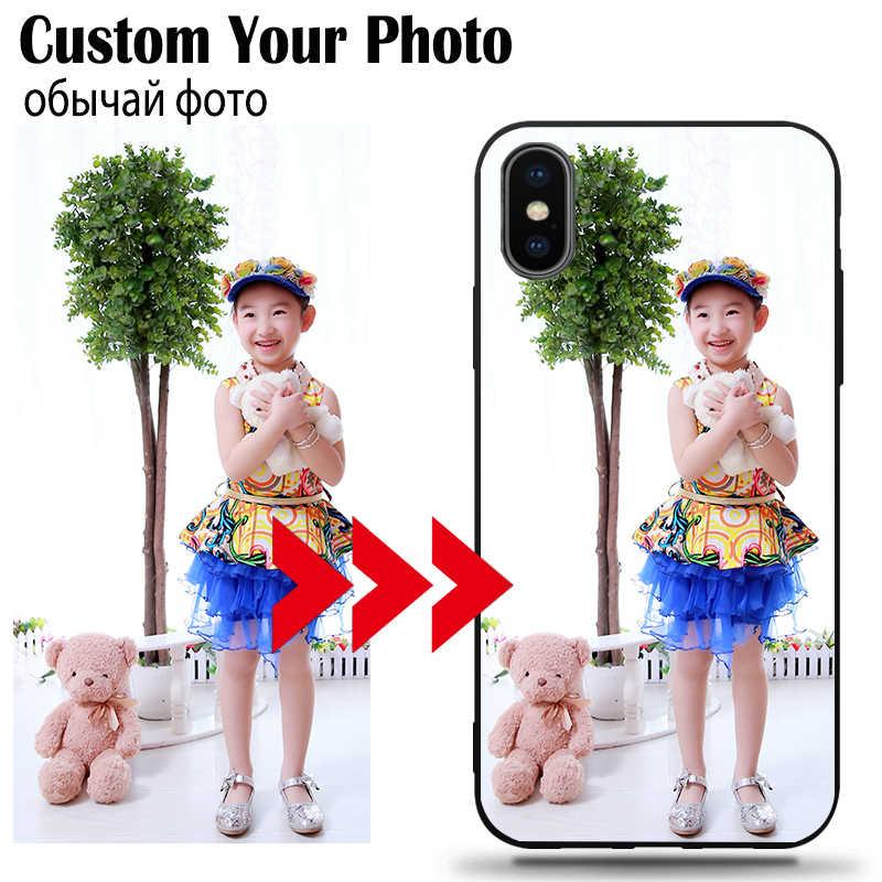 Diy Foto Custom Phone Case Black Soft Cover Voor Samsung A50 A50S A30 A40 A70 A80 A9 A10 A10E A20 plus 2018 Als Kerstcadeau