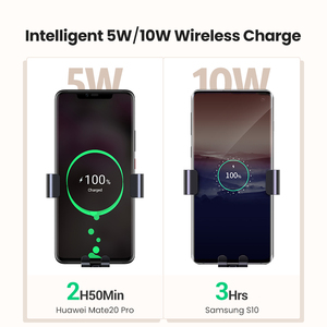 Image 5 - UGREEN Qi Car Wireless Charger for Samsung S9 10 Xiaomi Car Mount Hoder Car Charger Fast Wireless Charging For iPhone 11 XS X 8