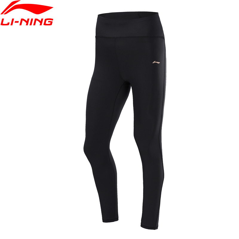 Li-Ning Women Training Base Layers Legging Tight Fit 64% Nylon 36% Spandex Li Ning LiNing Fitness Sports Pants AULP126 WKY264
