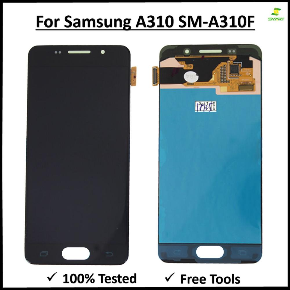 For <font><b>Samsung</b></font> Galaxy A3 2016 TFT <font><b>LCD</b></font> Display + Touch Screen Digitizer Assembly For Galaxy <font><b>A310</b></font> SM-A310F A310H A310M <font><b>LCD</b></font> Screen image