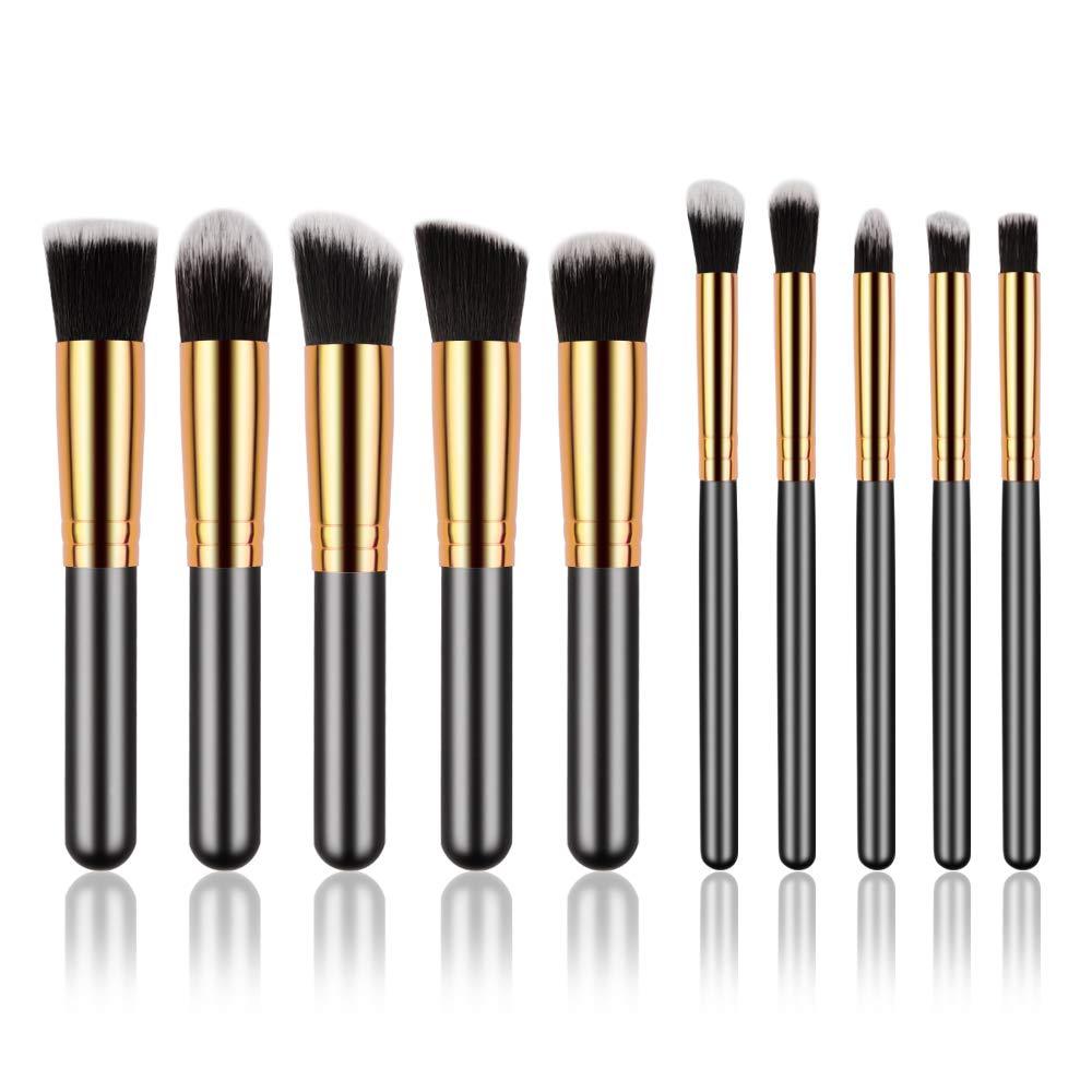 Miji Mila Makeup Brush Set Face Brushes Cosmetics Foundation Powder Blending Eye Shadow Professional Make Brushes Kit