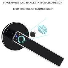 דלת חשמלית מנעול ביומטרי טביעת אצבע חכם מנעול נירוסטה Keyless אבטחת נעילת עד 100 טביעות אצבעות לבית בטיחות