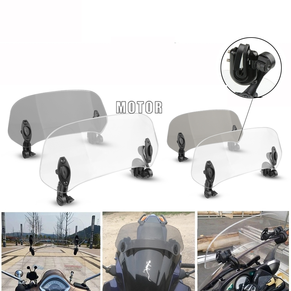 Motorcycle windshield Clamp-On Variable Windscreen Spoiler Extension For <font><b>Honda</b></font> <font><b>XL</b></font> 650 600 <font><b>700</b></font> 1000 125V Transalp Varadero XRV750 image