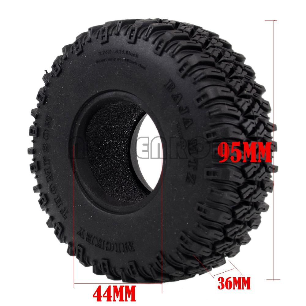"""Image 5 - NEW ENRON 4P 1.55"""" 96MM Tires Tyre Soft Rubber Wheel Tires RC Crawler Car D90 TF2 Tamiya CC01 LC70 LC80 Axial 90069Parts & Accessories   -"""