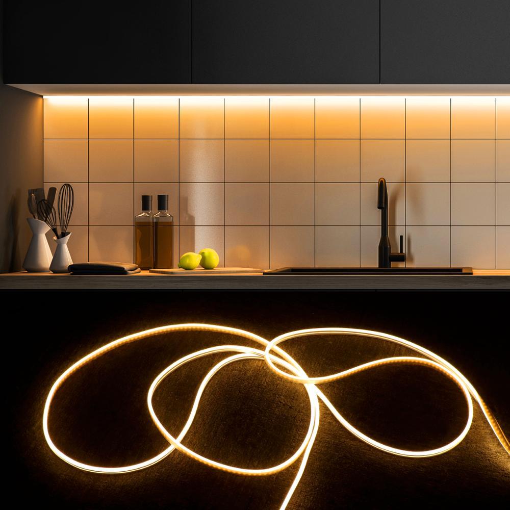 Плавная тусклая неоновый светильник Светодиодная лента 5 м, 3 м 2 м 1 м ledstrips сенсорный выключатель Управление задней части СИД светильник шка...