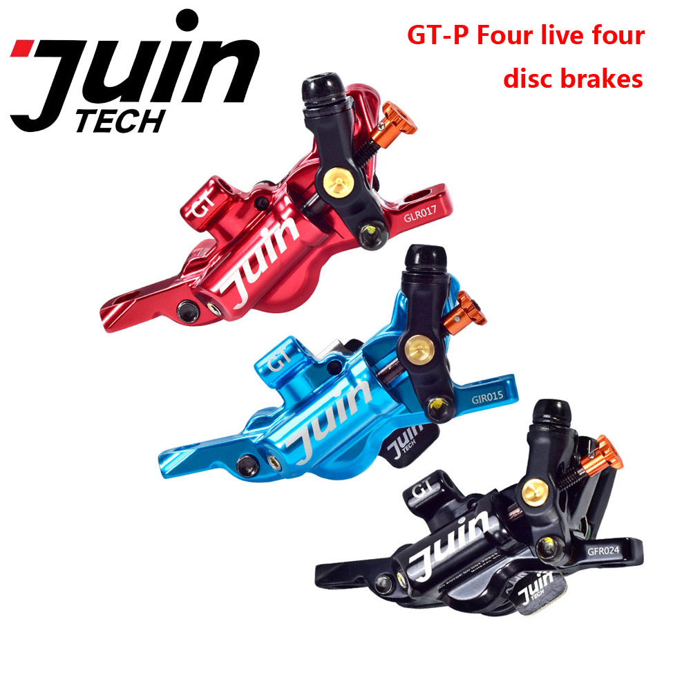 Juin Tech GT-P Line Pull Hydraulic Disc Brake caliper Road CX Gravel 160mm Red