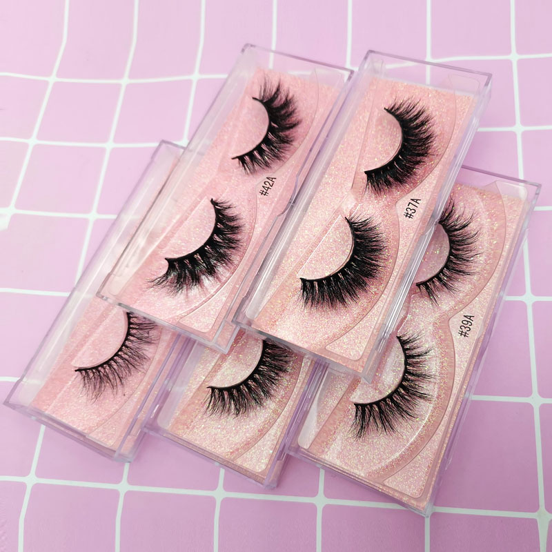 SHIDISNANGPIN 3D Lashes Mink Eyelashes Handmade Makeup Full Strip Lashes Eyelash Luxury Mink Lashes For Makeups Maquiagem Cilios