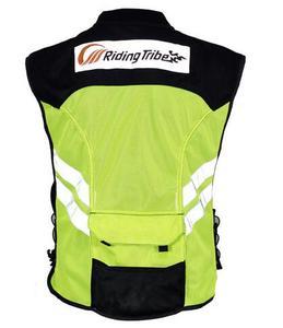 Image 5 - أحدث دراجة نارية ملابس سلامة عاكسة تعكس سباق واقية سترة الرؤية موتور الأمن القماش