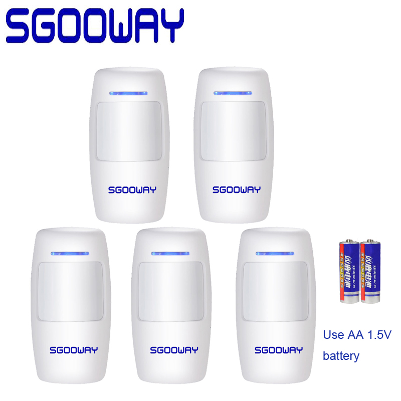 Sgooway Wireless Passive Infrared Detector PIR Motion Sensor For 433MHz Wifi GSM PSTN Home Security Alarm System