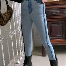 2020 new wholesale girls  denim  pants  fashion autumn girls jean pants 4-10t F745