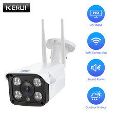 KERUI 1080P Full HD Outdoor Waterproof WiFi IP Camera Home Security Surveillance Camera With Night Vision Cloud Storage freecam floodlight wifi camera motion activated hd security ip camera with suspicious object analyze and cloud storage l810b