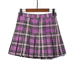 Image 5 - 女性のスカート韓国風ハイウエストプラスサイズ原宿aラインプリーツチェック柄ミニ女性のスカートmujer段faldas mujerモーダ2020