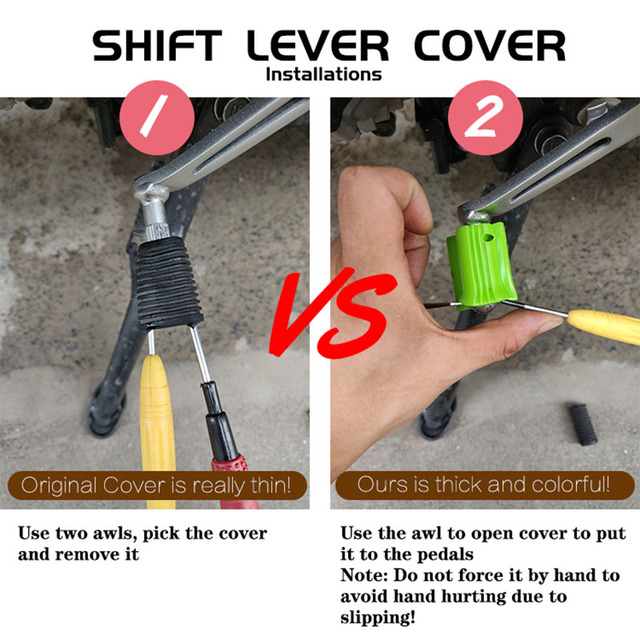 Universal Motorcycle Shift Gear Lever Pedal Rubber Cover Shoe Protector Foot Peg Toe Gel for Honda Kawasaki Yamaha KTM Motocross