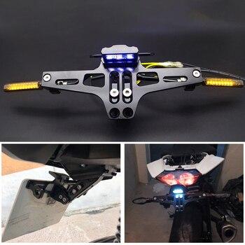 FOR suzuki boulevard m109r ltz z900 nmax triumph street triple 675 Universal Motorcycle license plate holder moto accessories