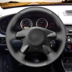 Image 2 - MEWANT สีดำ PU พวงมาลัยคาร์บอนไฟเบอร์สำหรับ Nissan Almera (N16) X Trail (T30) primera Sunny Avenir Renault Samsung SM3