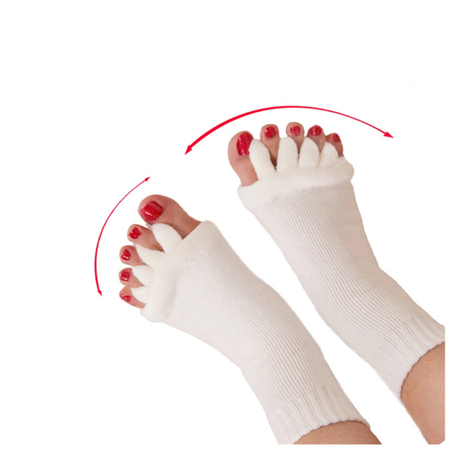 1 Pair Five Toe Socks Orthotics Separators For Toes Bunion Corrector Orthopedic Hallux Valgus Posture Correction Ectropion Corre 3