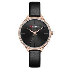 цены CURREN New Ladies Watches Fashion Minimalist Wrist Watch for Women Casual Leather Strap Quartz Female Clock Simple Classy Watch