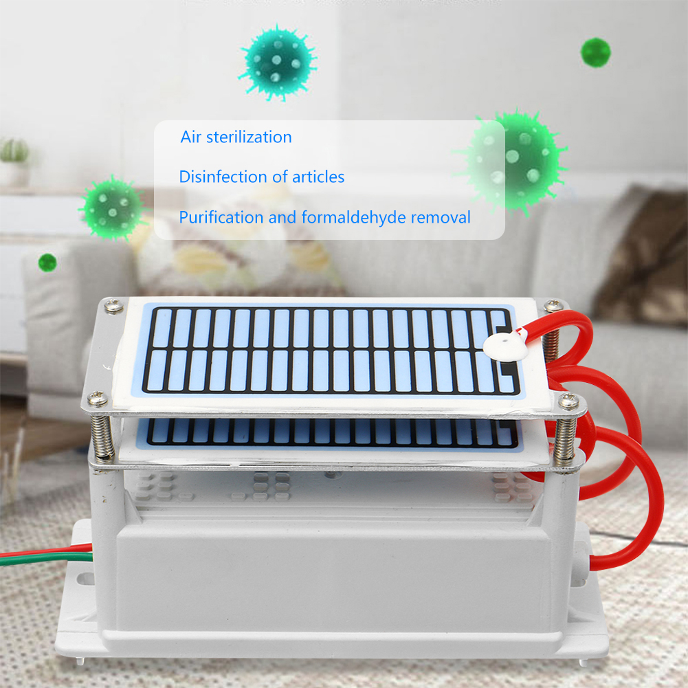 24g Ozone Generator 220V Ozonio Gerador Long Life Ceramic Plate Ozontor Ozonizador Air Water Cleaner Ai
