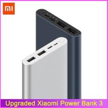 מקורי 10000mAh Xiaomi Mi כוח בנק 3 חיצוני סוללה בנק 18W מהיר תשלום Powerbank 10000 עם USB סוג C עבור טלפון נייד