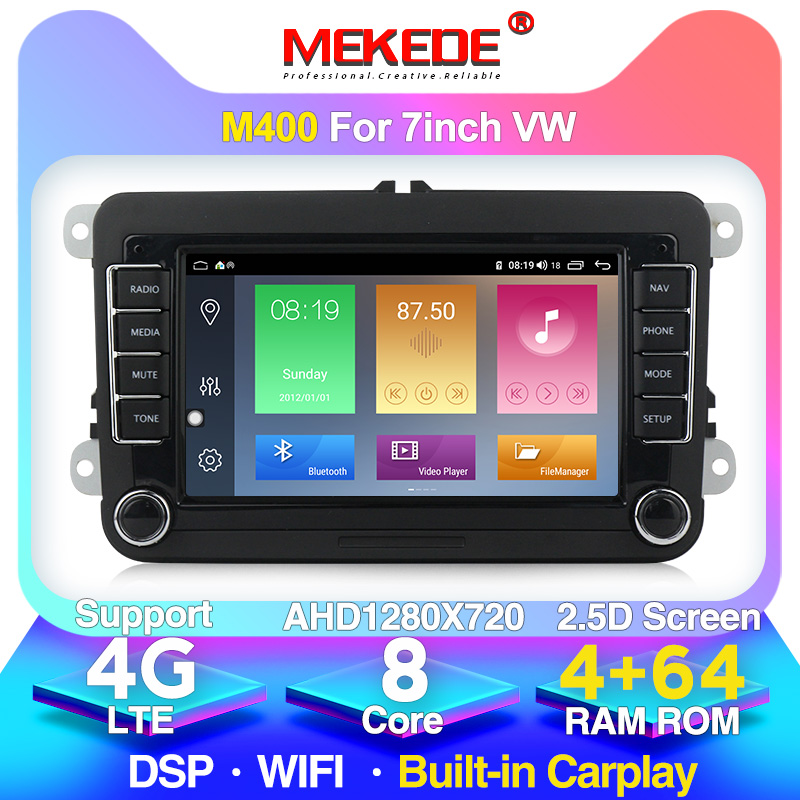 MEKEDE 2 Din Car DVD GPS Radio Player for Volkswagen <font><b>VW</b></font> polo <font><b>golf</b></font> 5 touran passat B6 b7 jetta tiguan seat leon wholesale! image