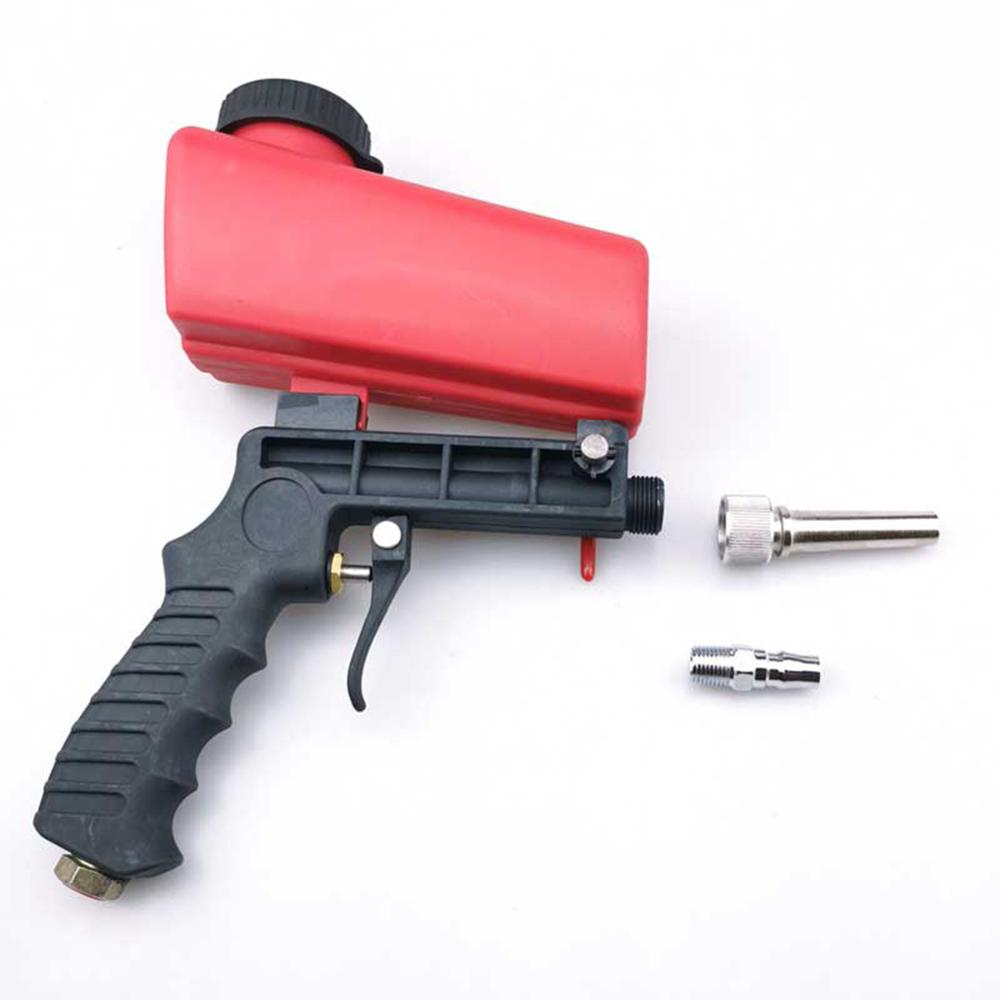 90psi MIni Aerodynamic Spray Gun Aluminium  Handheld Gravity Pneumatic Sandblaster Gun 700cfm Lightweight Power Machine  21lbs