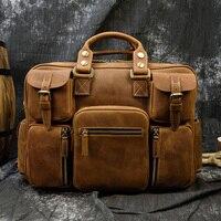 MAHEU Mode Natürliche Leder Männer Aktentaschen Mit Schulter Strap Mans Laptop Notebook Hand Tasche 2019 Neue Business Aktentasche Tasche