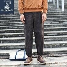 SauceZhan Classic Mud Dyeing Pants Men Pants Cargo Pants Leaf Dyeing Pants Winter Pants Men Trousers Pants & Capris Casual Pants