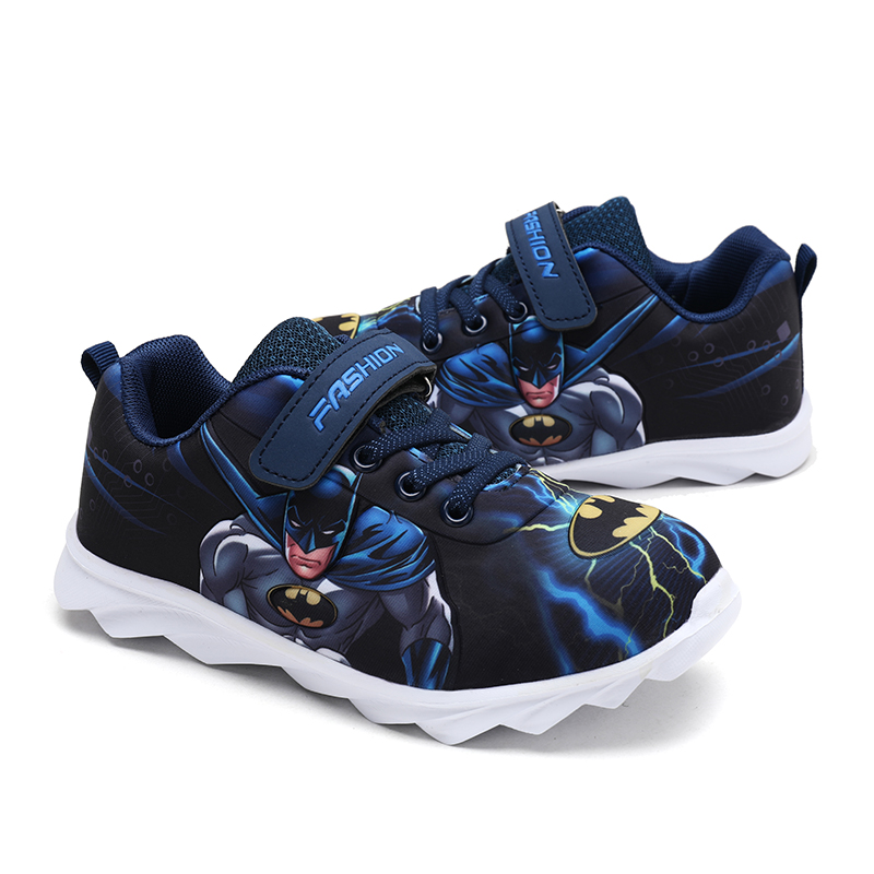 2020 Kid Casual Shoes Super Heroes Batman Design For Boys Girls Toddler Boys Soft Shoes Slip-On Loafers Flats Comfortable Shoes