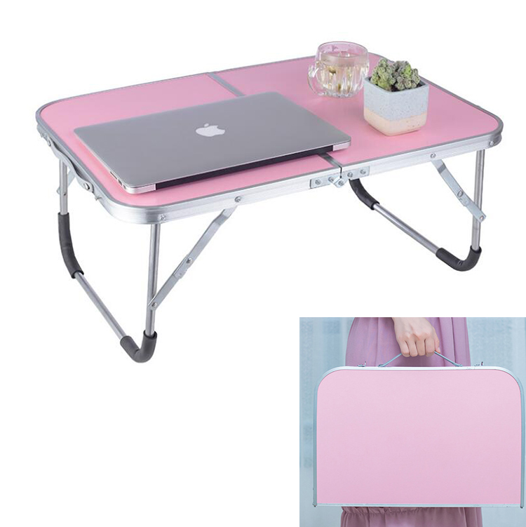 Double Folding Laptop Table Portable Computer Desk PC Laptop Notebook Table For Writing Home Office Furniture