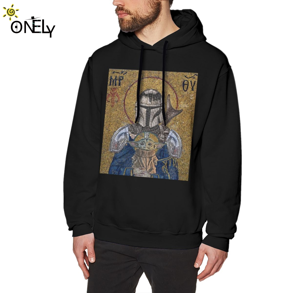 The Child Is My Religion Hoodies The Mandalorian Baby Yoda Star Wars Jedi Fett Sweatshirt For Male Fashion Camiseta