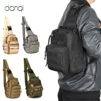цена на DONQL Fishing Bag Multifunctional Outdoor Waist Bag Portable Lure  Shoulder Pack Messenger Bag Pole Package Fishing Tackle Bag
