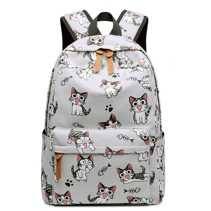 Canvas Printing Children School Backpack High Quality School Bag For Teenage Girls Student Bookbag Travel Women Backpacks WBS482