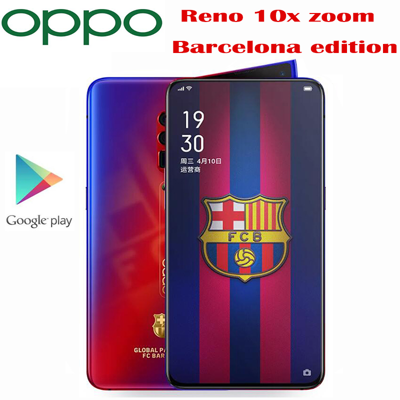 New Original Official Oppo Reno 10X Zoom Smart phone Barcelona edition Snapdragon 855 Octa Core 6.6inch 4065Mah 48MP Camera NFC|Cellphones| - AliExpress