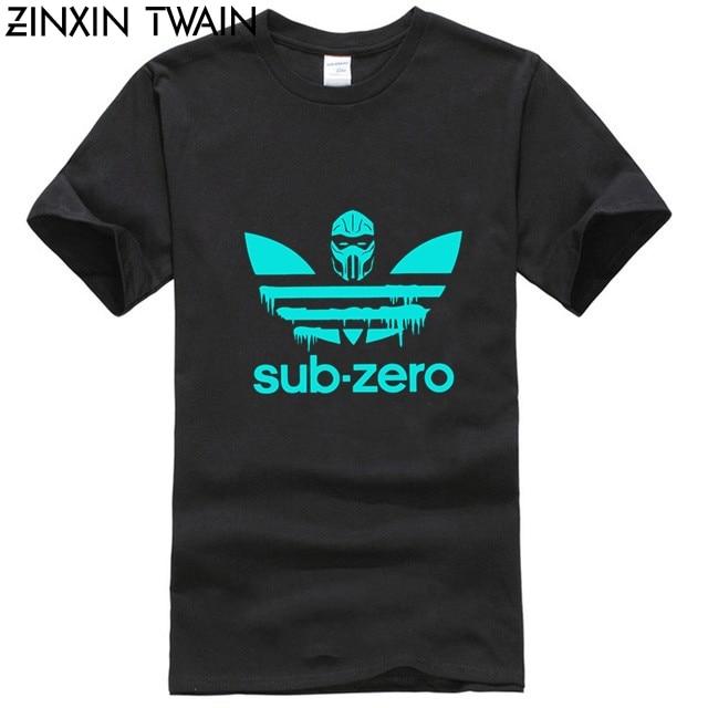 New Printed Funny Men Sub Zero Sports Logo Mortal Kombat Men's T-Shirt Women Tshirt