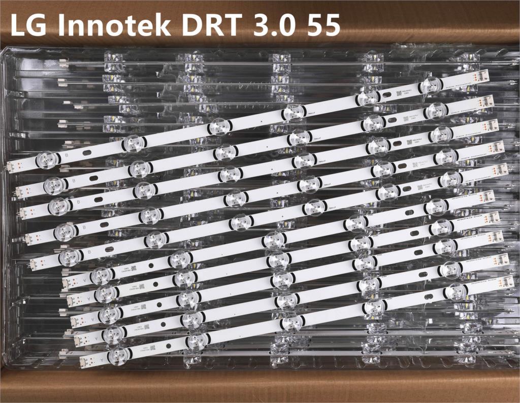 """10pcs LED Strip For LG Innotek DRT 3.0 55""""_ A/B Type Rev01 55LB561V 55LB652T LC550DUE LG55LF5950 55LY320C 55LB5700 55LF6500"""