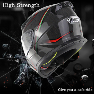 Image 4 - SOMAN ניאון קו סיבי פחמן קסדה מגניב מלא פנים ECE אופנוע קסדות מגן להעיף את Mens מירוץ Bluetooth Casco Moto