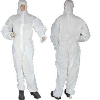 FedEx 100pcs Disposable Protective Clothing Dustproof Hooded Disposable Protective Coverall Protective Suit