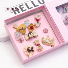 Headwear Hairpin Hair-Accessories Rabbit-Ear-Set Korean Wholesale Cartoon Children Cute
