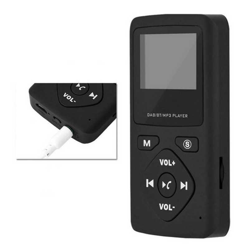 Draagbare DAB/DAB + Pocket Digitale Radio Ontvanger Bluetooth MP3 Speler met Oortelefoon Radio Ontvanger