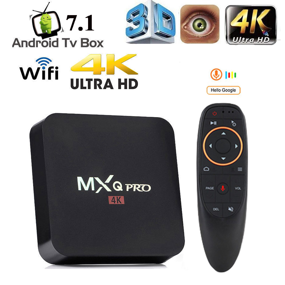 MXQ Pro TV Box Android 7,1 Smart Box 4K HD 2,4G WiFi S905W Quad Core Media Player RK3228 smart TV Android Box 2GB 16GB
