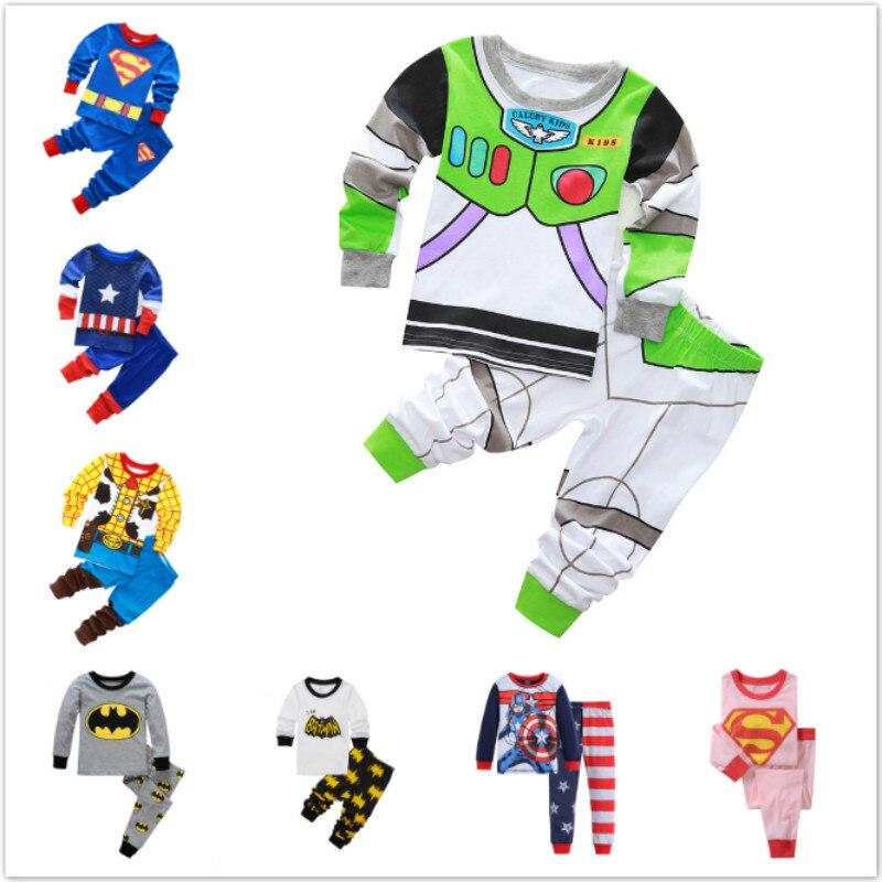 Новое поступление, пижама для мальчиков, Детская Пижама, Fille Enfant, пижама с рисунком Супермена, динозавра, комплекты одежды для сна для девоче...