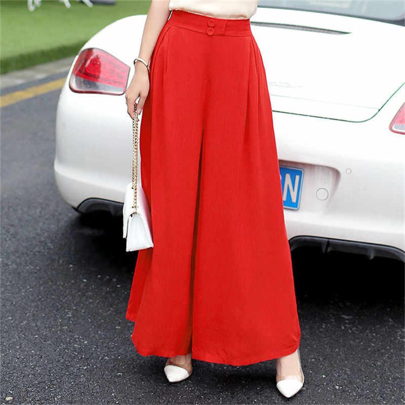 Quần Tây Nữ 2020 Cotton Linen Mùa Hè Cao Cấp Quần Chiều Dài Mắt Cá Chân Đen Cổ L-3XL Váy Pantalon Femme ETE CJ046